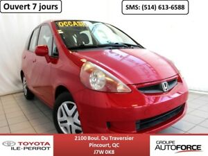 2007 Honda Fit DX-A, AUTO, A/C, GR ÉLEC LOW MILEAGE, FUEL EFFICI