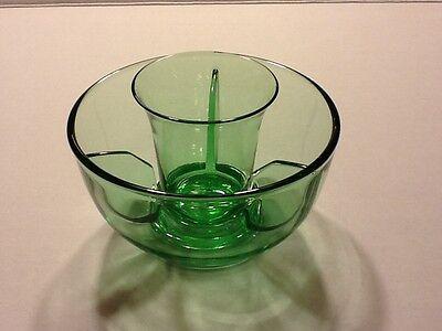 Elegant Depression Glass Fostoria Fairfax Green Icer and Insert (6 available)