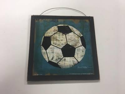 Soccer ball boys Sports bedroom wooden Wall Art Sign childrens room Decor](Soccer Ball Decorations)