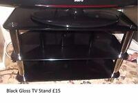 Black Gloss TV stand