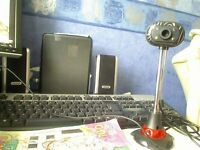 web cam with light and mic