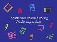 English and Italian tutoring in Reading