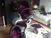 stokke xplory v3 purple pushchair