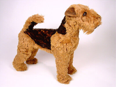 Life-Size Welsh Terrier by Piutre, Hand Made in Italy, Plush Stuffed Animal NWT - Life Sized Stuffed Animals