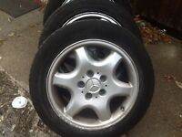 Mercedes. Alloy wheels with all good tyres. Only. £125
