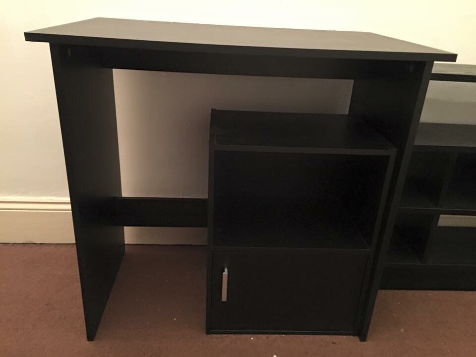 Argos Soho Office Desk And Cabinet Black Ash
