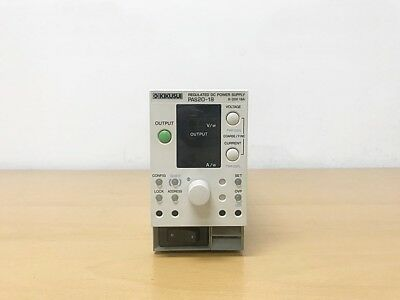Kikusui Pas20-18 Regulated Dc Power Supply 0-20v 18a