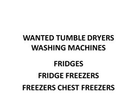 all white good required washers...dryers..fridges..fridge freezers etc plz text with what you have