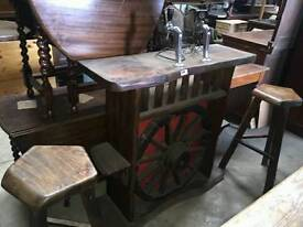 Unusual 1970's bar and stools