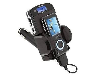 FM Transmitter and Car Charger for Sansa - USB port (Docks E200, C200 & C100)