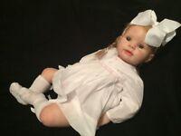 "Reborn doll, toddler 26"" Kitten by Donna Rubert, human hair, dummy, baby bottle, etc"