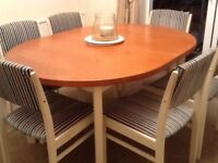 Solid wood dining table Annie Sloan Style and 6 chairs