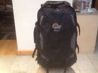 Lowe Alpine SHUTTLE 75(75 litre capacity)travel backpack-used for 1week trip-no damage