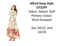 Alfred Sung bridesmaids dress