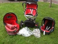 Pushchair/Stroller - Red/Black Quinny Buzz 4 Travel System in excellent and clean condition