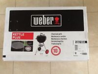 WEBER kettle plus barbacue for sale brand new
