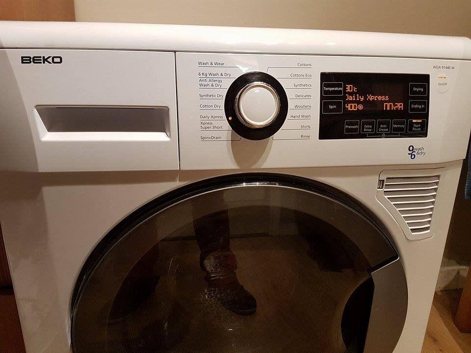 Huge 9+6 kg drum washer dryer. Excellent condition, like new. Digital display. Delivery