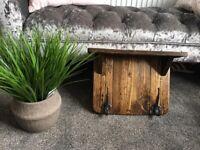 Bespoke handmade rustic coat rack and shelf