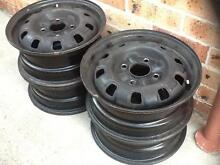 """Four 14"""" Steel rims with stud pattern 4 x114.3. Excellent conditi Prestons Liverpool Area Preview"""