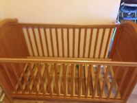 "Cot bed ""COSATTO"" in very good condition (can deliver for £3 extra)"