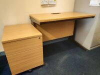 Office Desk & Filing Cabinet