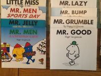 40 MR Men and Little Miss books in good used condition .
