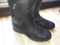 J&S Motorcycle touring biker boots black size 11