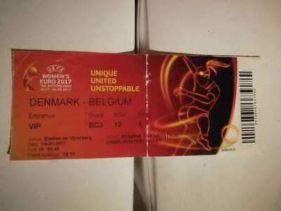 TICKET :  DENMARK vs BELGIUM (UEFA WOMEN'S EURO 2017)