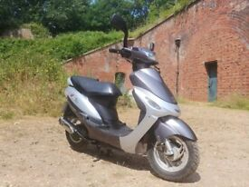 peugeot vclick 50cc 1 year mot 728km from new !!