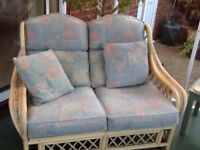 Conservatory Furniture Set. 2 Seater and 2 arm chairs £70