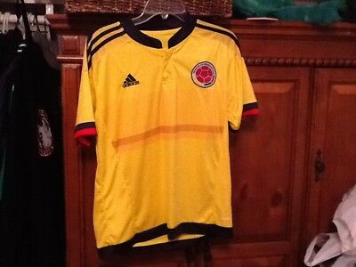 f28be38cf adidas Colombia Official 2015 2016 Home Soccer Football Jersey~42