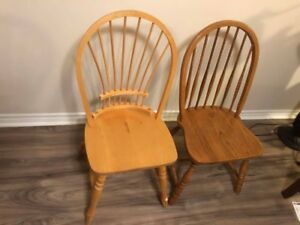 Two wodden chairs