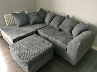 DYLAN JUMBO CORD CORNER OR 3+2 SEATER SOFA SET AVAILABLE IN STOCK IN DIFFERENT COLOR
