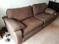 Large Brown Fabric Sofa for Sale *HOUSE CLEARANCE