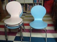 4 Modern-style Children's Chairs