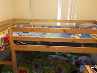 "Wood bunk bed for sale ,""NO MATTRESSES"", Liverpool city center or can deliver if near"
