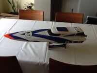 Radio controlled electric powered racing boat-ideal present!