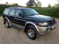 mitsubishi shogun sport 3.0 v6 with gas/lpg 2002/51 plate with 166k and a april 2018 mot..