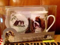 Cavalier King Charles Spaniel Tea Time Mug Gift Set