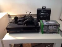 Xbox One 500GB with 8 Games, Elite Controller and Standard Controller, + Headset and Original Wires