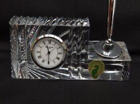 Waterford Crystal Clock pen Holder