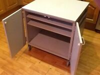 OFFICE/ HOME OFFICE CABINET ON WHEELS IDEAL FOR A PRINTER WITH STORAGE UNDERNEATH