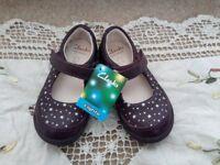 Clarks Purple Stars Light Up Girls Shoes