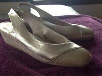 John Lewis Ladies Beige Wedge Shoes size 39
