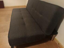 Made Yoko grey sofa bed as good as new. Surplus Kallax Shelving unit 5x5