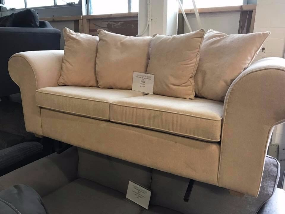 NEW SOFA BED IN CREAM COLOUR VIEWING WELCOME