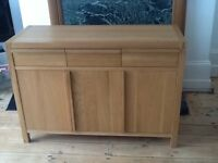 Solid oak and oak veneer sideboard for sale in good condition in Gosforth Newcastle Upon Tyne