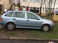 SKODA FABIA 1.9TDI 2002 ESTATE VERY GOOD ENGINE 3 MONTHS MOT 495 O.N.O.