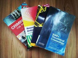 Criminology textbooks - university law newton theory justice research data analysis psychology