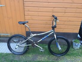 FOR SALE - old school chrome GT BMX . Fully working and will clean up well . Cheap at £125